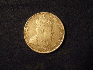 1904 B Straits Settlements One Dollar Silver Coin Km.  25 photo