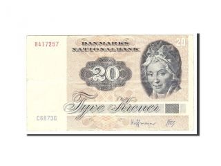 [ 114819] Denmark,  20 Kroner,  1987,  Km:49g,  Undated,  Ef photo