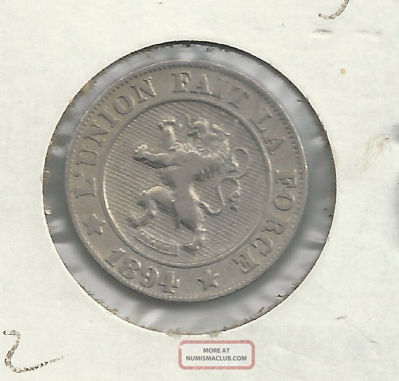 1894 Belgium 10 Centimes - Scarce Type - Belgium Europe photo