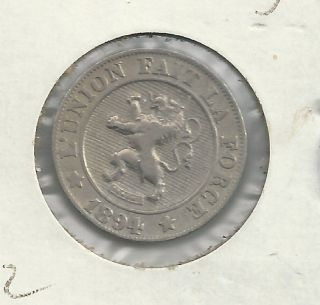 1894 Belgium 10 Centimes - Scarce Type - Belgium photo