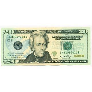 $20 Bill Twenty Dollar Us Dollar Bill Bank Note - Paper Money Federal Reserve photo