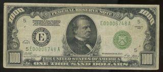 $1000 1928 Richmond Dark Green Seal Very Fine 5 Of 12 Gold Obligation photo