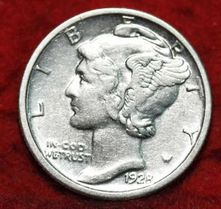 Uncirculated 1928 Philadelphia Silver Mercury Dime photo