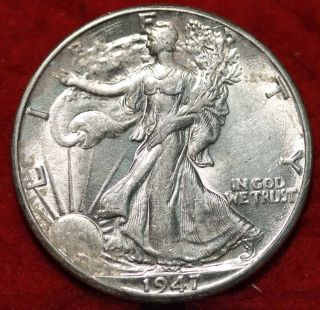 1947 - D Denver Silver Walking Liberty Half photo
