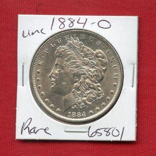 1884 O Bu Unc Morgan Silver Dollar 65801 Ms,  Coin Us Rare Key Date Estate photo