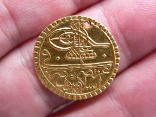 1 Ottoman - Turkey - Turkish Gold Islamic Coin Zeri Mahbub Sultan ? photo