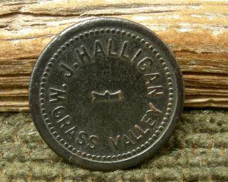 Ca 1900 Grass Valley California Nevada Co Rare