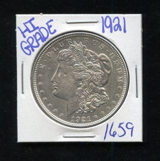 1921 Silver Morgan Dollar Coin 1659 Shipping/rare Estate/high Grade photo