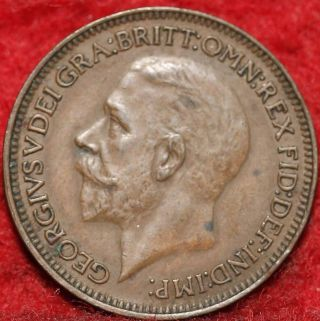 1935 Great Britain Farthing Foreign Coin S/h photo