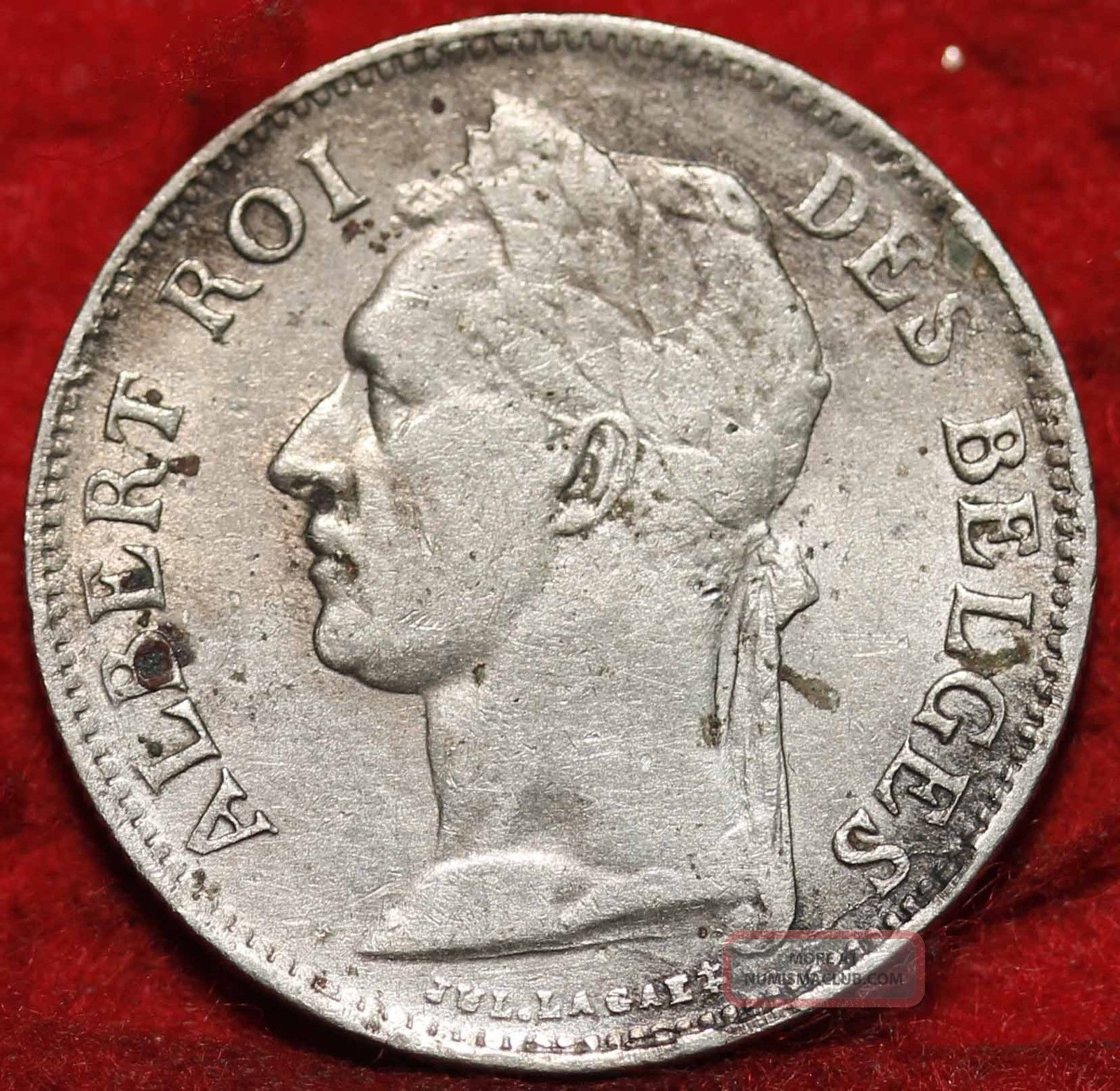 1926 Belgian Congo 50 Cents Foreign Coin S/h Europe photo