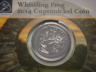 Bermuda 25 Cents,  2014,  Whistling Frog,  2,  000,  Rare photo