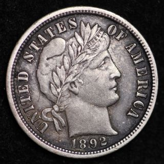 1892 - O Barber Dime Choice Au,  E231 Mt photo