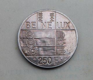 Belgium,  250 Francs 1994,  Be Ne Lux,  Silver Coin Albert Ii 50 Ans Du Benelux photo