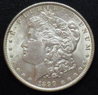 1890 Morgan Silver Dollar Grading Choice Bu Z811 photo