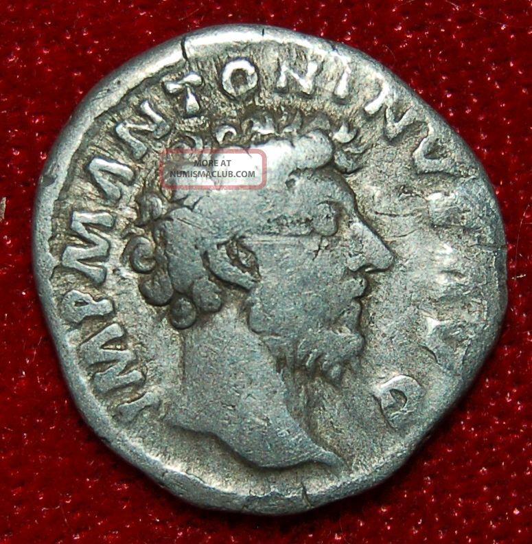 Roman Empire Coin Marcus Aurelius Providentia On Reverse