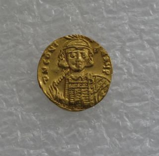 Byzantine Gold Coin Solidus Constantine Iv Xf,  668 - 685 Ad photo
