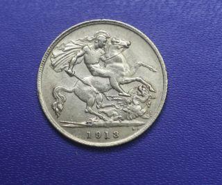 1913 Gold British Half - Sovereign,  Agw.  1177 Ounce,  Exc Coin photo