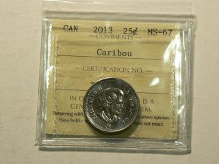 Canada,  2013 Twenty Five 25 Cents,  Iccs Ms - 67 2774 photo