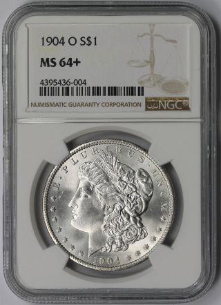 1904 - O Morgan Silver Dollar $1 Ms 64,  Plus Ngc White photo