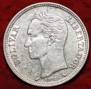 1960 Venezuela 10 Gram Silver Foreign Coin S/h photo