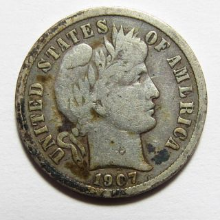 1907 P (barber) Liberty Head Dime photo