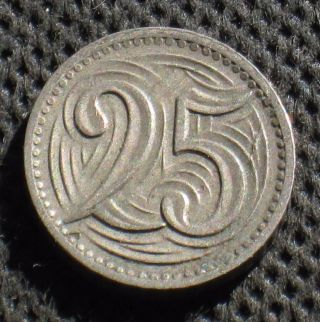 Old 25 Haleru 1933 Coin Of Czechoslovakia photo