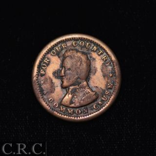"""Civil War Token (cwt) F - 135/440 """"for Our Country A Common Cause"""" photo"""
