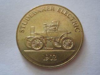 Studebaker Electric 1902 Antique Car Token Coin Medal photo