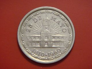 Argentina 1 Peso,  1960,  150th Anniversary - Removal Of Spanish Viceroy photo