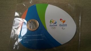 Brazil Rio 2016 Olympic Games Coin: Sailing - Especial Edition photo