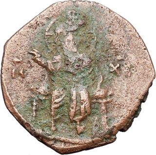 Jesus Christ Class F Anonymous Ancient 1059ad Byzantine Follis Coin I48100 photo