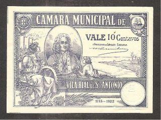 Portugal - Notgeld - CÂmara M.  Vila Real S.  AntÓnio - 10 Centavos - Ma 2474 - Unc photo