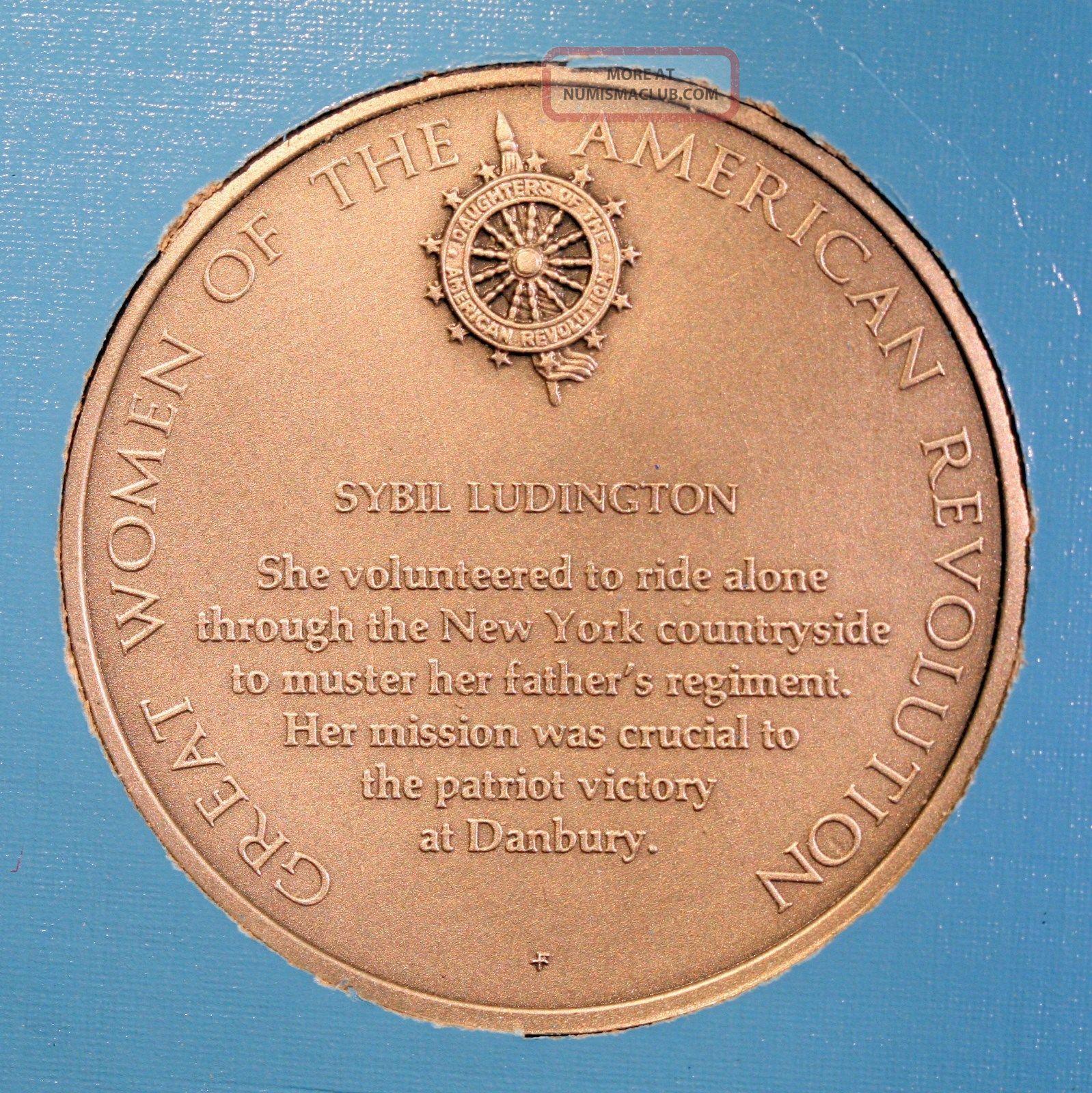 Sybil Ludington DAR Medal American Revolutionary War Great Women