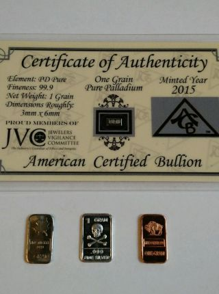Bullion Palladium Price And Value Guide