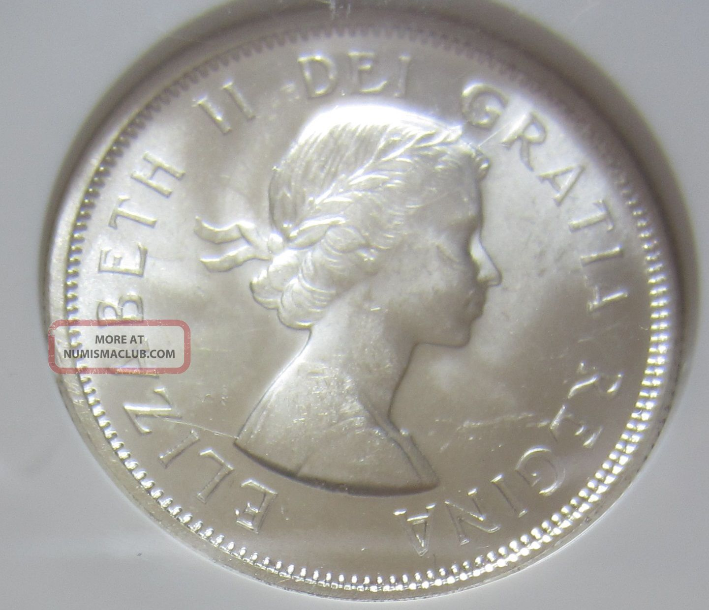 1957 Canada Silver Twenty - Five Cents Coin.  Quarter.  Ngc Ms - 64 Unc 035 Coins: Canada photo