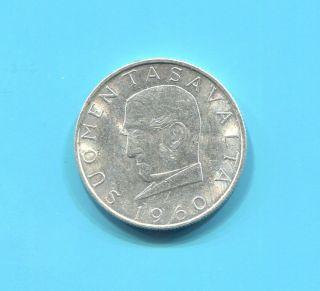 Finland - Rare Silver 1000 Markka,  1960 S - J photo