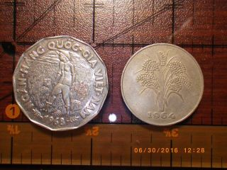 South Vietnam Dong 10 And 20 Only Single Year Issues photo