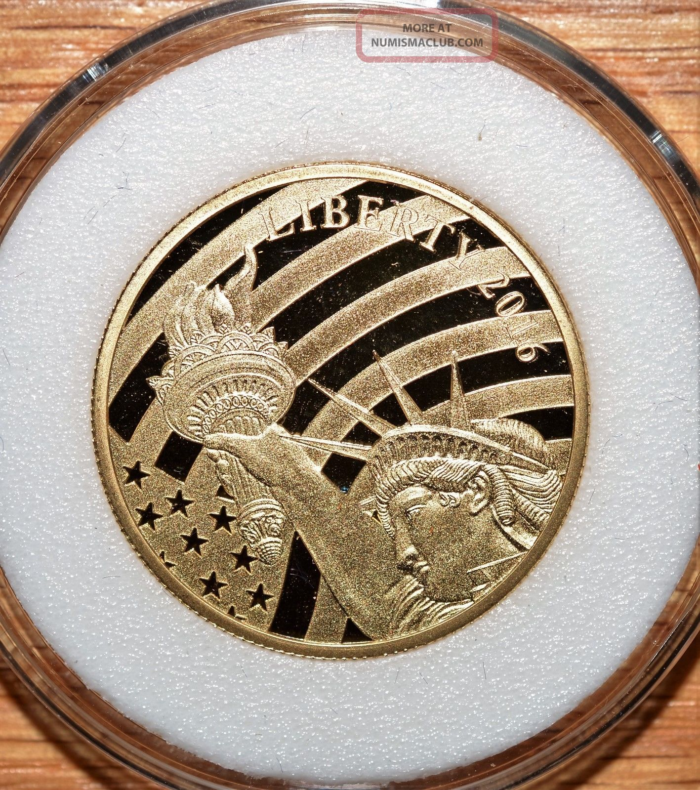 2016 1 2 Oz Gold Proof Statue Of Liberty 25 Coin Cook