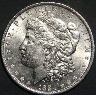 1884 - O Morgan Dollar Grade Bu As Pictured Inv 1383 photo