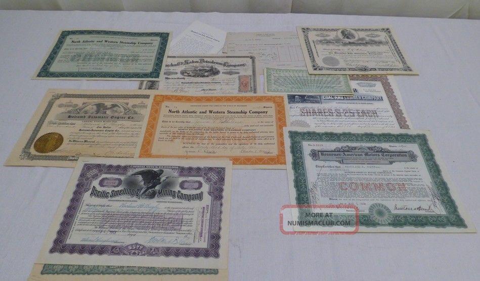 Vintage Stock Certificate 1865 Petroleum Company/1917 Coal Lumber Company Stocks & Bonds, Scripophily photo