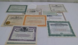 Vintage Stock Certificate 1865 Petroleum Company/1917 Coal Lumber Company photo