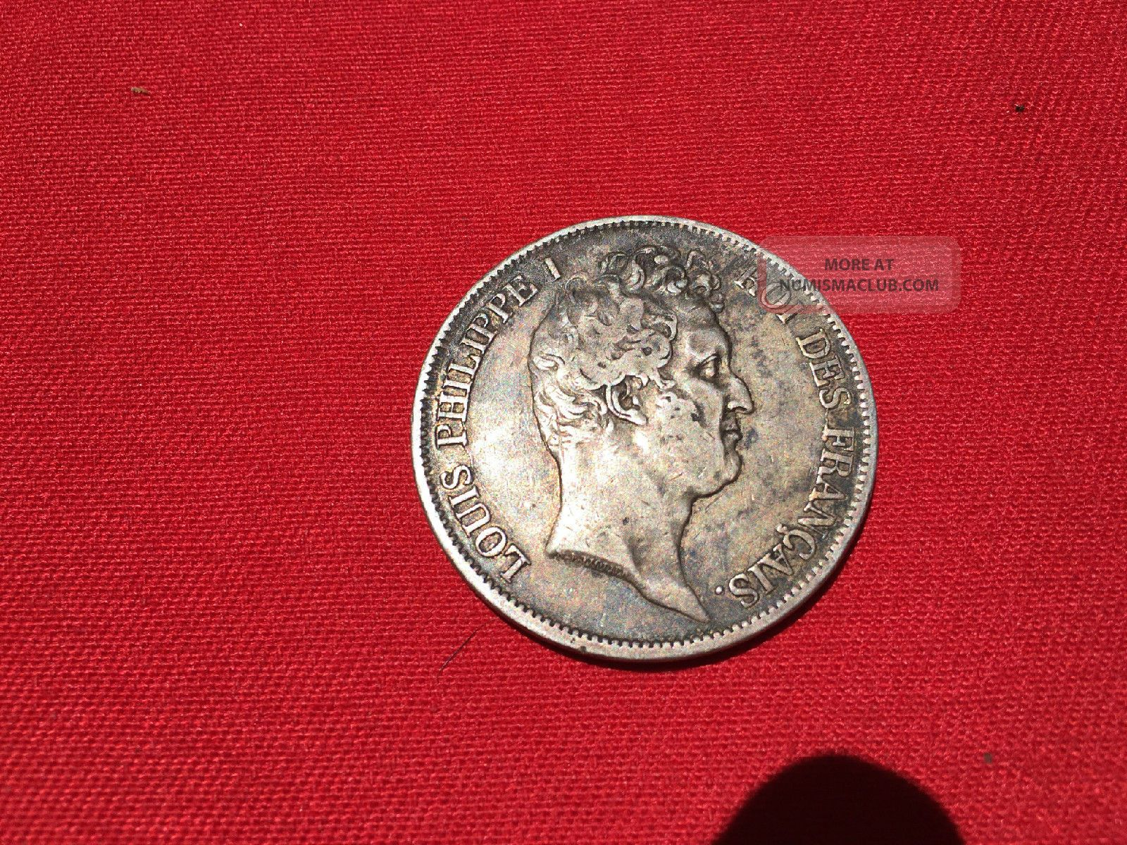 France 1831 W 5 Francs Silver Vf/ef Louis Philippe Europe photo