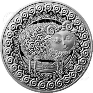 Belarus 2009 1 Ruble Aries Signs Of The Zodiac Bu Cuni Coin photo