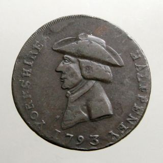 1793 Copper Halfpenny_conder Token_guild Of Cutlers_sheffield Yorkshire photo