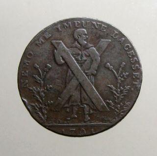 1791 Copper Half Penny_conder Token_ Hutchison ' S Edinburgh_st Andrew photo