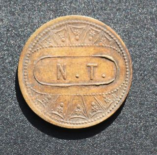 Canada: N.  T.  (napoléon Tremblay) Token,  St Henri,  Montréal 5 Cents Breton Br 628 photo