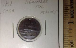 1898 ' Remember The Maine ' Token; photo