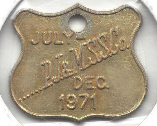 Manly Australia Transpotation Token 480 - Rp 36 Rare & Dated Pass photo