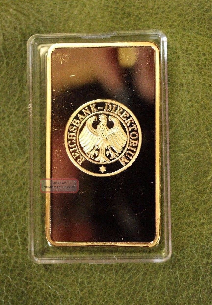 Deutsche Reichsbank German Iron Cross 24k 999 Fine Gold