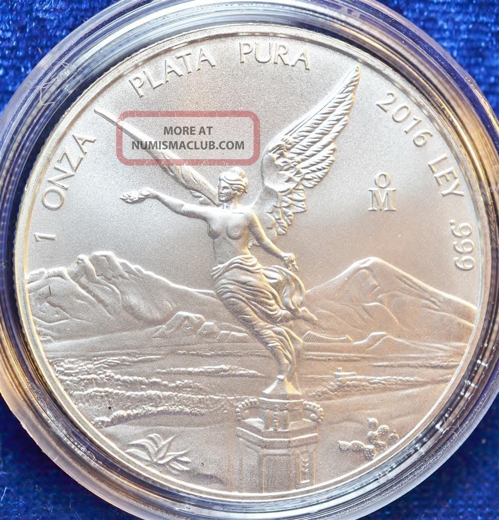 2016 1 oz Mexican Silver Libertad Coin BU